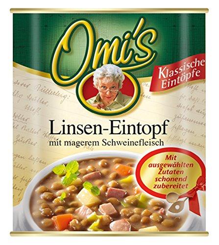 Omi's Linsen-Eintopf mit magerem Schweinefleisch, 6er Pack (6 x 800 g)