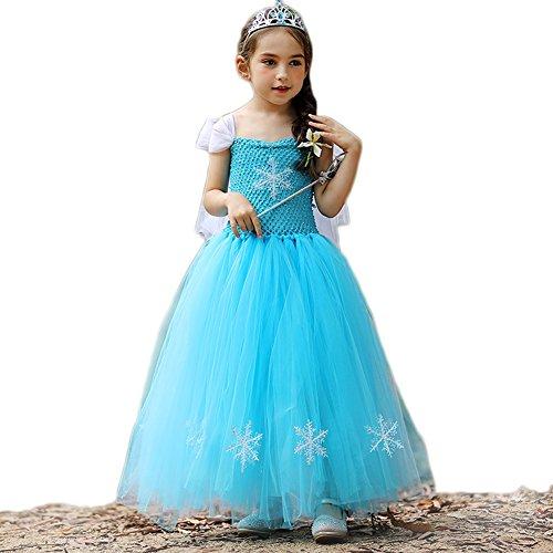 Gefrorene Schneekönigin Kostüm Kostüm Prinzessin Cosplay Party Outfit (Elsa Kostüme Baby)