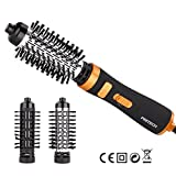 PRITECH 2-in-1 Rotation Hot air Styler,Professional Electric Hair Curler Perfect Curling Iron Brush Personal Care Hair Styling Tools
