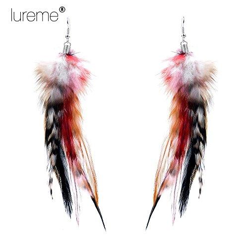 luremer-bohemien-style-multicolor-faisan-feathers-hook-dangle-boucles-doreilles-for-women-filles-les