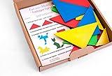 Farbiger Trangramsatz mit 28 Teilen