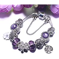 9c2a52fa0472 QWERST Bracelet Vintage Estilo Europeo Chapado En Plata Y Perlas De Cristal Encanto  Pulseras Abalorios Original
