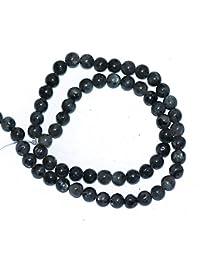 Piedras Sueltas Labradorita Negro Natural De Piedras Preciosas Redondas Para La Fabricacion De Joyas