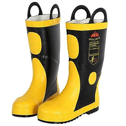 KKmoon Portable Bottes Lutte Contre l'incendie Ignifuge Imperméable à l'eau Chimique Preuve électrique Anti Crevaison Protection Incendie Taille