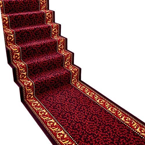 Läufer/Teppich, Küche Flur Matte Veranda Fußmatte Treppenstufe Matte - Bedrucktes Textil - Braun/Rot - Eine Vielzahl von Größen. (Farbe: Rot, Größe: 100CM * 3M) - Treppenstufen Teppich, Teppich Läufer
