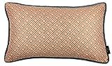 McAlister Textiles Copenhagen Kollektion | Elva Zierkissen inkl. Füllung mit geometrischem Muster 60cm x 40cm in Orange | Skandinavischer Stil Deko Kissen für Bett, Sofa, Couch