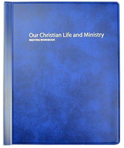 Nuestra vida Cristiana y Ministerio reunión carpeta EFX - testigos de Jehová, color azul