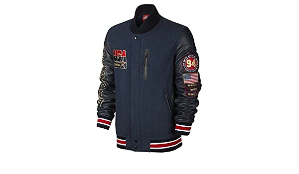Nike Men s Varsity Jacket Dark Blue Red 612901-473 (Size  S)  Amazon.in   Clothing   Accessories 71a11b6fe