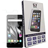 For Micromax E483 Canvas Evok - 1 Pc Saihan Premium Quality Tempered Glass Micromax E483 Canvas Evok Screen Protector Guard With Ultra High Definition Invisible, Oleophobic Coating Anti-Bubble Crystal Shield [Free Portable Mobile Stand Included In The Box