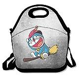 bakeiy Doraemon Volador Lunch Tote bolsa caja de almuerzo neopreno bolso para niños y adultos para viajes y Picnic escuela