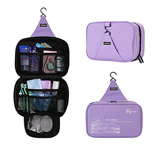 Beauty case, lowmany impermeabile kit da viaggio portatile Hanging Organizzatore personale Sacchetti, bagno cosmetici borsa (Rosa Car Care)