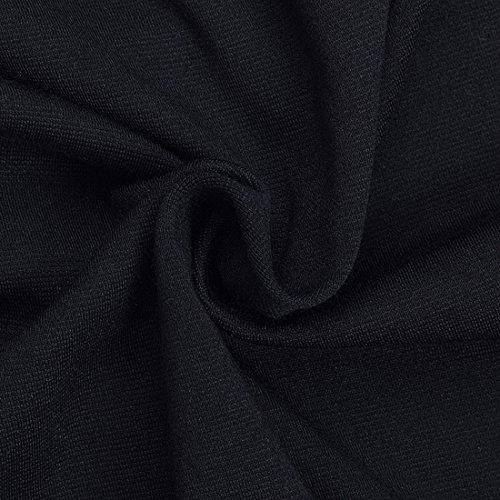 HOMEYEE Robe Bowknot Moulante taille haute carrière Femme KB220 Noir