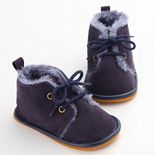 Just easy Babyschuhe Lauflernschuhe Krabbelschuhe Winter Baby Mädchen Jungen Dunkelblau
