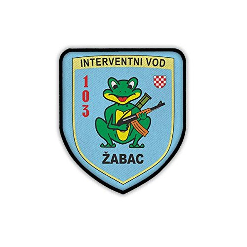 Patch / Aufnäher - Interventionstrupp ?abac 103 Brigade Interventni Vod Derventa Hrvatska Brigada HVO Kroatischer Verteidigungsrat Kroatien Kroatische Armee Militär Wappen Abzeichen Emblem #19256