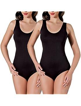 Body sin mangas para mujer Cilek, elástico, cuello redondo, tirantes, tallas S, M, L, XL