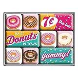 Nostalgic-Art 83092 USA - Donuts, Magnet-Set (9teilig)