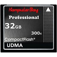 Komputerbay KB_32GBCF_300X - Tarjeta de alta velocidad Compact Flash de 32GB (CF 300X Ultra alta velocidad de 10 MB/s de escritura y 52MB/s de Lectura)