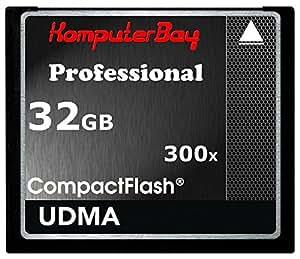 Komputerbay CF 300X High Speed   Compact Flash 32GB Speicherkarte (10Mbps Schreiben, 52Mbps Lesen)