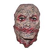 MIANJV Halloween Medio Cara Cicatriz Horror máscara Novedad Divertida látex Caucho Espeluznante Cabeza máscaras Cara Pesadilla espantosa para Fiesta de Disfraces de Carnaval