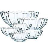 Transparent Glas Klar Obstschale, Obst salatschüssel Geschirr-6 Sätze