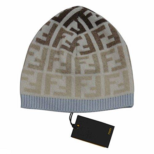 fendi-kids-hat-beanie-blue-beige-made-in-italy-luxury-brand-sz-small-medium