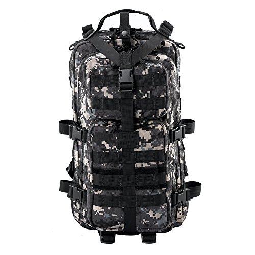 YAKEDA® Outdoor-Reisen Bergsteigen Taschen Camping Rucksack Radfahren Paket Wandermarsch Paket Tactical Armee Fans packen 25 L - A88021 (cp Farbe) ACU
