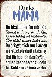 ComCard Danke mama, du bist immer für mich da….suße schild aus blech, metal sign, tin