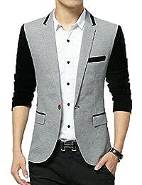 Beetle Men's Cotton Single Breasted Blazer(Kz_05_s_Small_Multicolored)