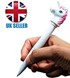 Unicorn Torch Pen - Girls Girl Teens Children Child Kids - Number One Gift - Novelty Present - Perfect for Stocking Fillers Christmas Xmas Birthday Easter Present Gift Fun Toys & Games Age 5+ or Pocket Money Treat or Reward Idea One Supplied