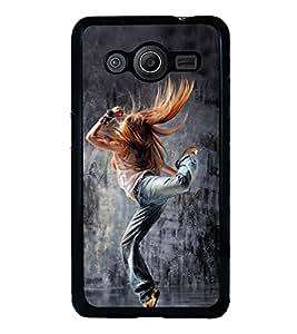 Printvisa Ultra Dancing Girl 2D Hard Polycarbonate Designer Back Case Cover for Samsung Galax...