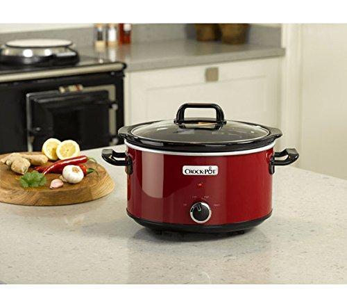 Crockpot SCV400D Slow Cooker, 3,5 l, colore: rosso
