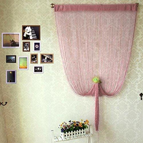 DIKHBJWQ Dekorative Fadenvorhang Mit Perlen TüR Fenster Panel Raumteiler