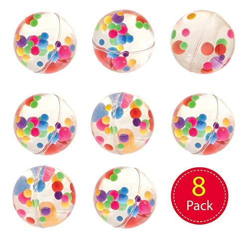 Baker Ross Flummis mit Regenbogenpunkten (8 Stück) Gummibälle für Kinder mit Regenbogenpunkten. Flummis für Kinder Partys