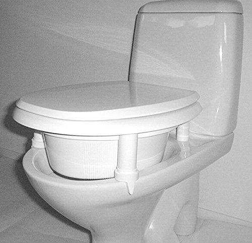 KAN WC Sitz Erhöhung | Aufsteckbare Toilettensitzerhöhung | Verschiedene Höhen auswählbar | Qualitätsprodukt Made in Sweden | Farbe weiss