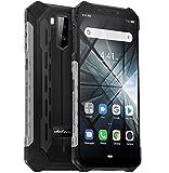 télephone Portable incassable (2019), Ulefone Armor X3 avec Mode sous-Marin, IP68 résistant Smartphone Etanche Android 9.0, Double SIM, 2 Go + 32 Go, Batterie 5000 mAh, Visage déverrouillé GPS Argent
