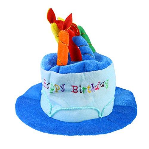 NUOBESTY Geburtstag Kuchen Hut Party Hüte Erwachsene Geburtstag Kostüm Zubehör für Erwachsene Geburtstag Party (blau)