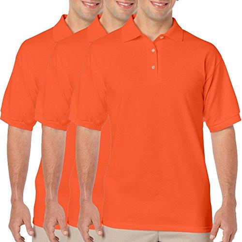 Gildan Workwear Herren Poloshirt 3 x Orange