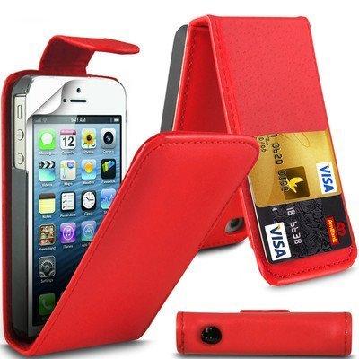 G4GADGET Schutzhülle / Klappetui für Apple iPhone 4 / 4S (Lederhülle / Klapphülle) rot