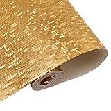 Mosaik Fliesen Luxus Metallic-Design Glitzer Silber Folie Tapete Rolle Aluminium, gold