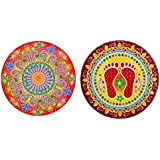 DollsofIndia Pair Of Rangoli Stickers - Dia - 9 Inches Each (RX02)
