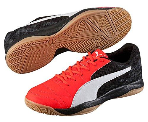 Puma - Veloz Indoor Iii, Scarpe fitness Unisex – Adulto Neon-rosso / nero