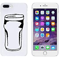 Azeeda Blanco Vaso de Cerveza Funda / Carcasa para iPhone 7 Plus (MC00159196