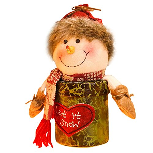 LoveLeiter Santa Claus Snowman Elk Christmas Candy Packaging Christmas Candy Jar Decoration Kindergeschenk Dekoration Weihnachten Mädchen Junge Kreatives Geschenk Neuheit (C)