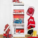 Klebefolien Feuerwehr passend für dein schmales IKEA Billy Regal (T28xB40xH106) - Möbel nicht inklusive
