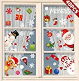 heekpek Noël Autocollants Fenêtre Noel Sticker Fenetre Noel Stickers Vitrine Noel Merry Christmas Stickers Noel Decoration Stickers