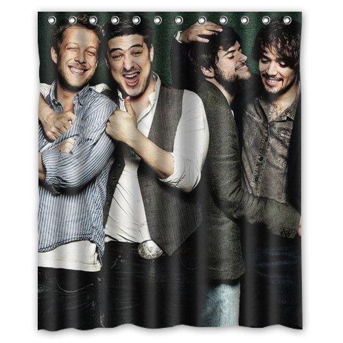 Mumford & Sons shower curtain 60x72 inch