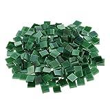 MagiDeal 250 Stück Fliesen Mosaik Mosaikfliese Quadrat Bad Pool Glas - Grün
