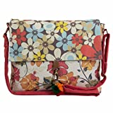 The House Of Tara Printed Sling and Laptop Bag