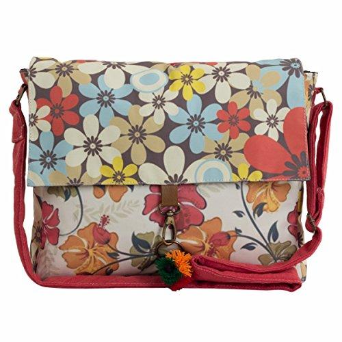 The House Of Tara Printed Sling and Laptop Bag image - Kerala Online Shopping