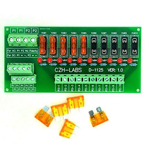 Electronics-Salon Panel Mount 10 Position Power Distribution Sicherung Module Board, für AC/DC 5 ~ 32 V. Dc-power-distribution-modul
